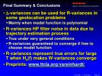 final summary conclusions