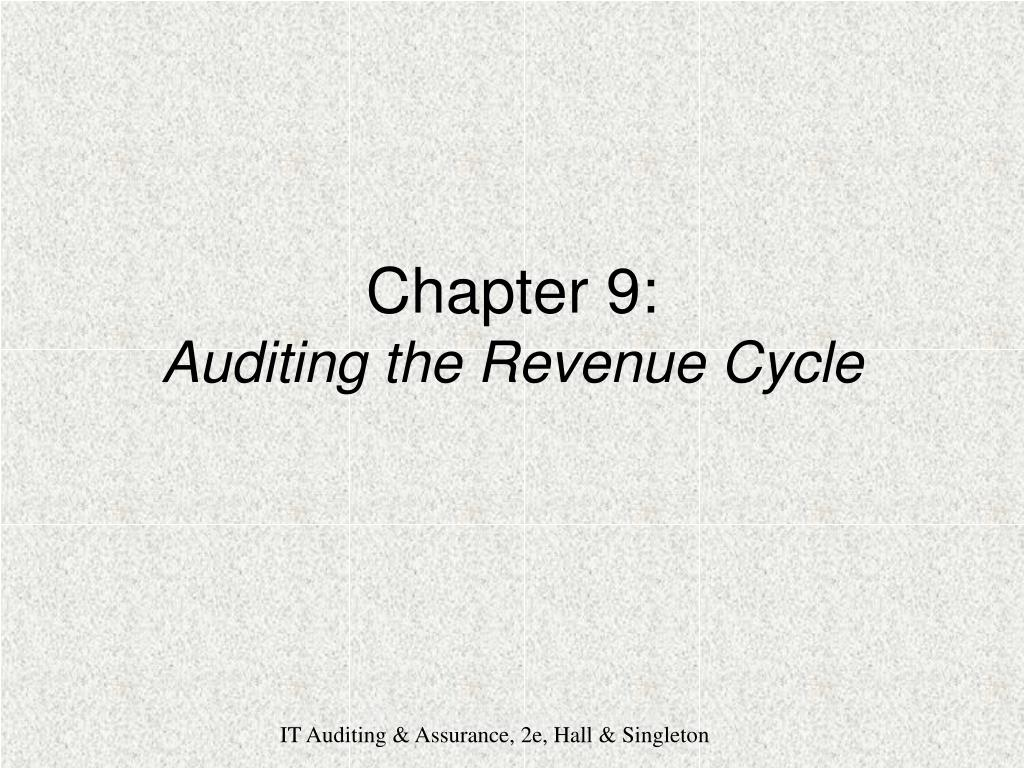 chapter 9 auditing the revenue cycle l.