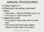 manual procedures