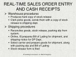 real time sales order entry and cash receipts11