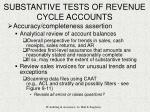 substantive tests of revenue cycle accounts25