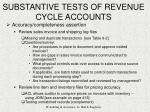 substantive tests of revenue cycle accounts26
