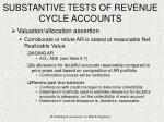 substantive tests of revenue cycle accounts28