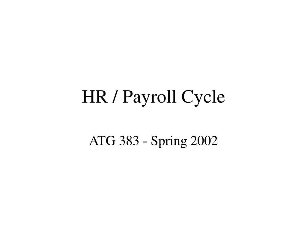 hr payroll cycle l.
