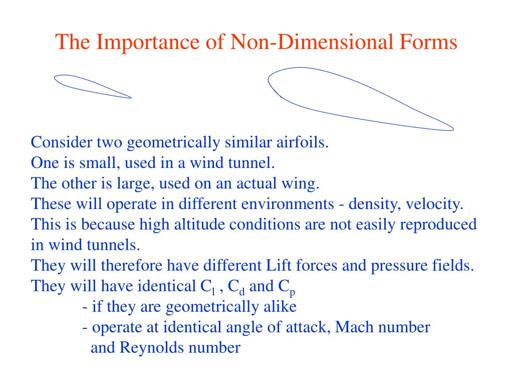 The Importance of Non-Dimensional Forms