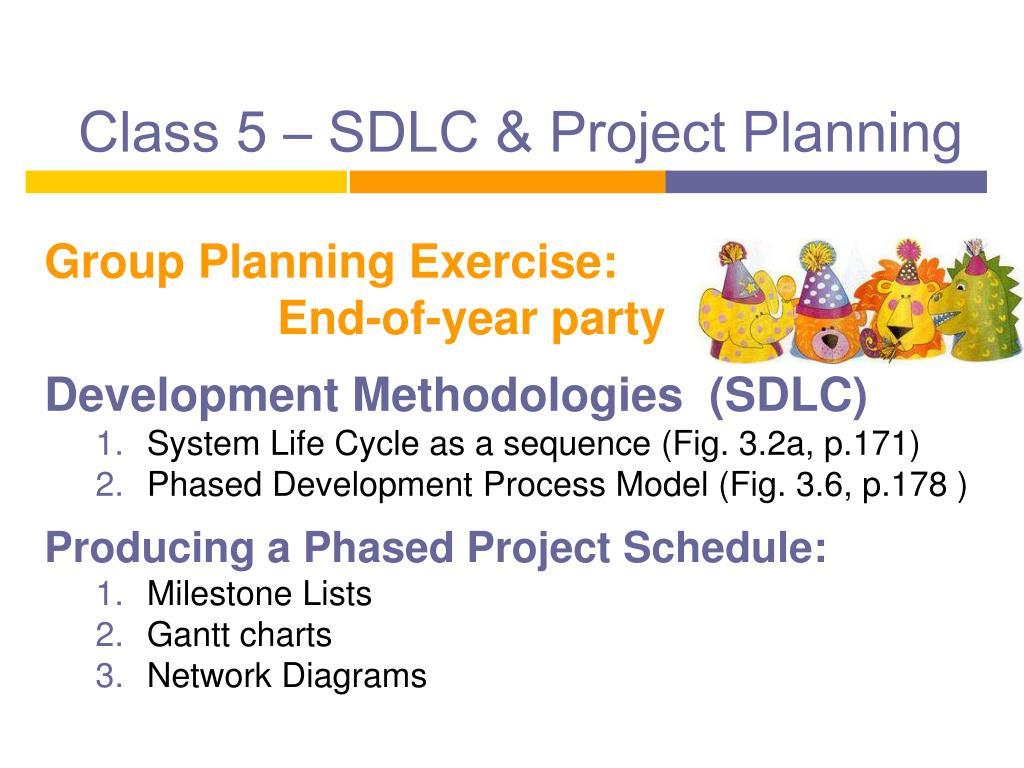 class 5 sdlc project planning l.