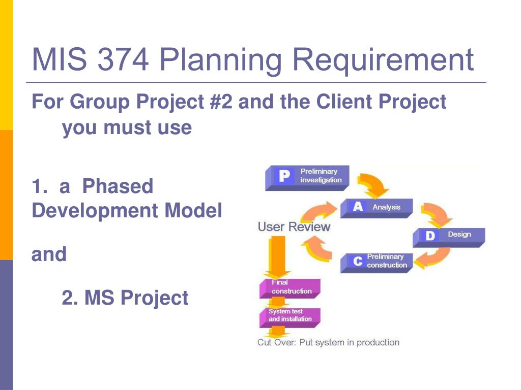 MIS 374 Planning Requirement