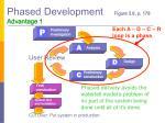 phased development figure 3 6 p 178 advantage 1
