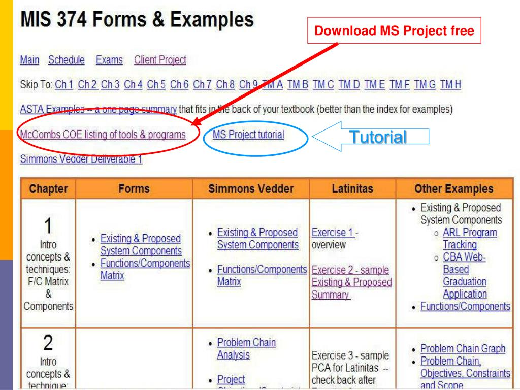 Download MS Project free