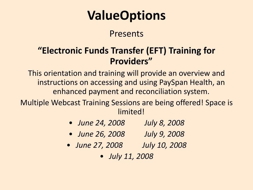 valueoptions presents l.