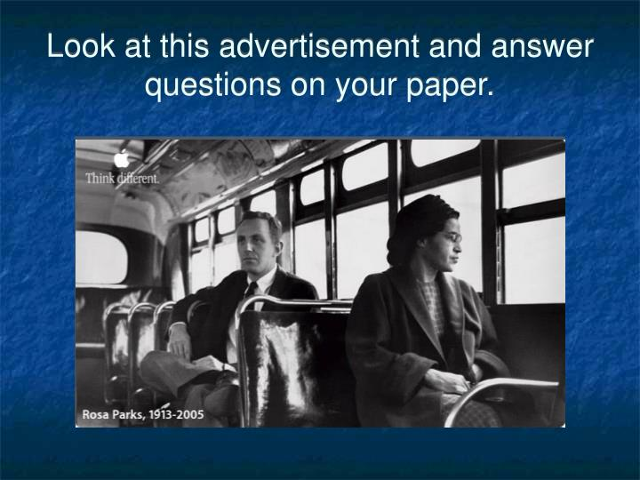 Look at this advertisement and answer questions on your paper
