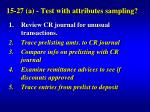 15 27 a test with attributes sampling11