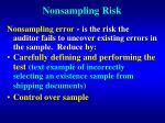 nonsampling risk