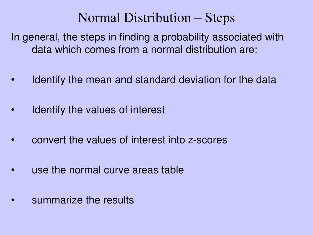 Normal Distribution – Steps