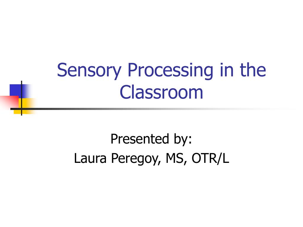 sensory processing in the classroom l.