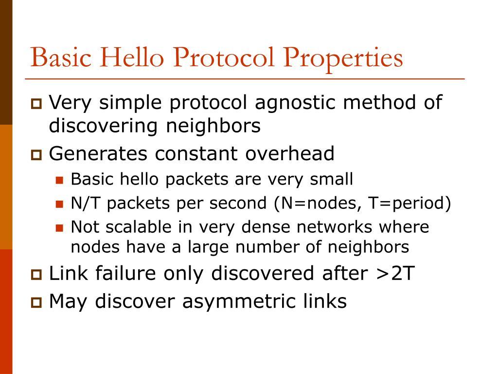 Basic Hello Protocol Properties