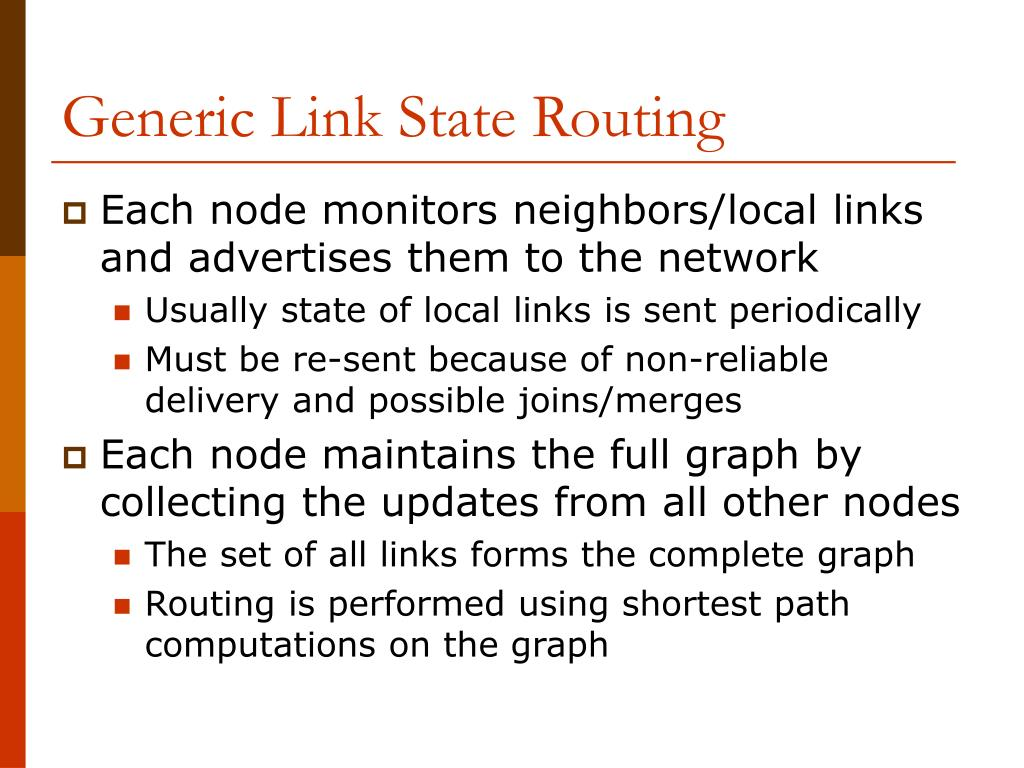Generic Link State Routing