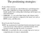 the positioning strategies