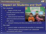 impact on students and staff