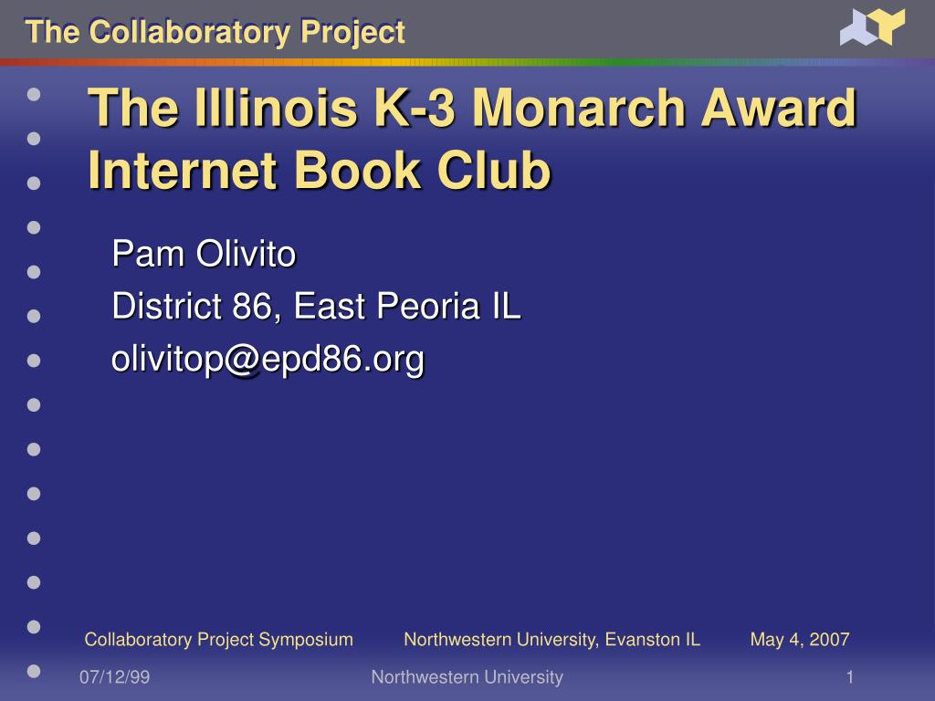the illinois k 3 monarch award internet book club l.