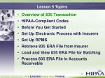 lesson 5 topics