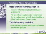 remittance advice remark codes