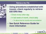 retrieve the file