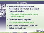 set up rpms