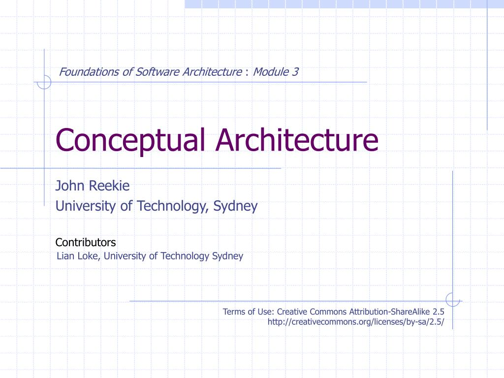 css 422 software architecture conceptual design Css/422 week 1 everything listed develop the first three sections of the architectural design create several software architecture diagrams for your company.