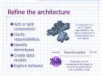 refine the architecture