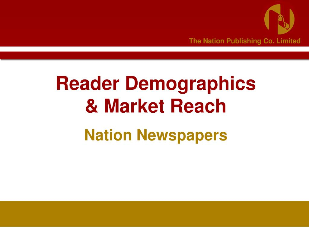 reader demographics market reach l.