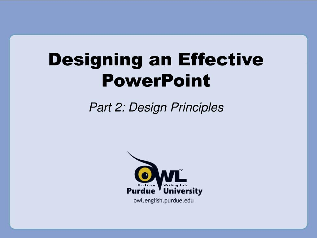 designing an effective powerpoint l.