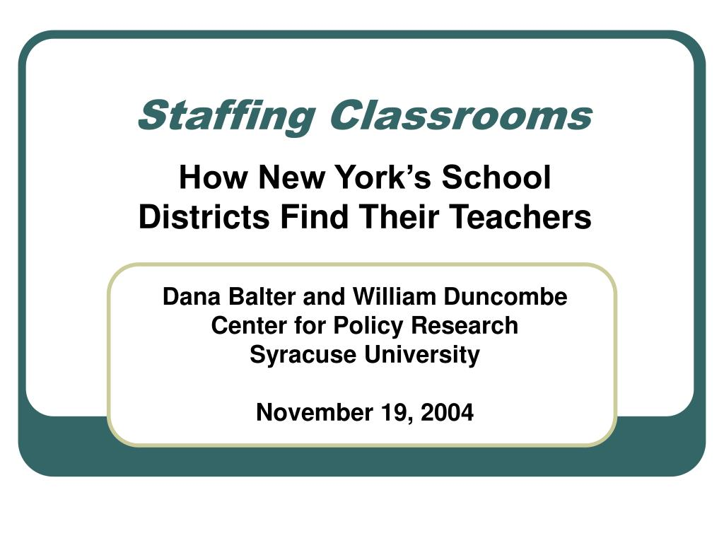 staffing classrooms l.