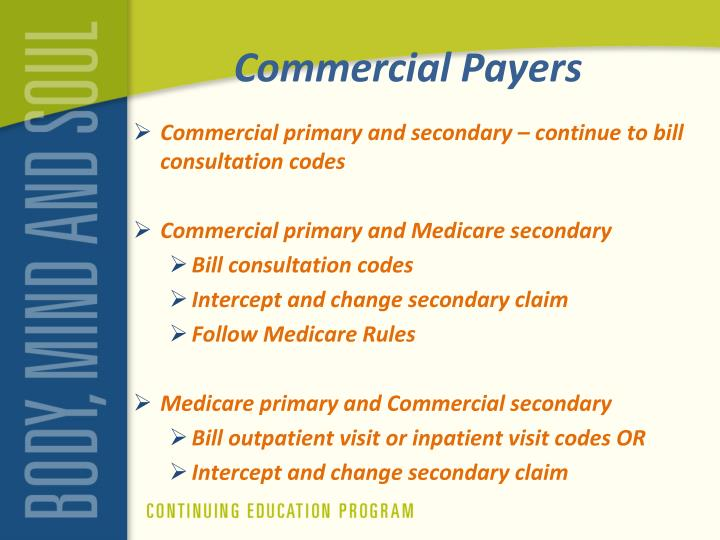 Commercial Payers