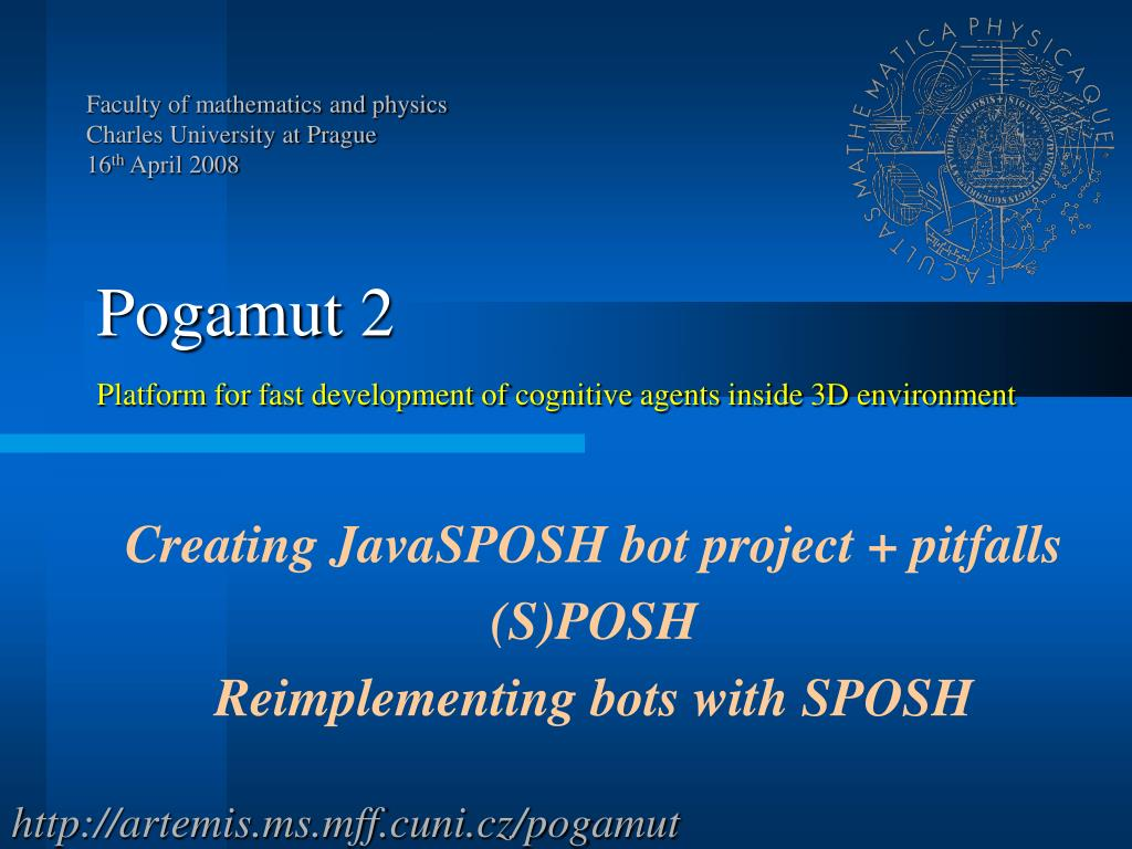 creating javasposh bot project pitfalls s posh reimplementing bots with sposh l.