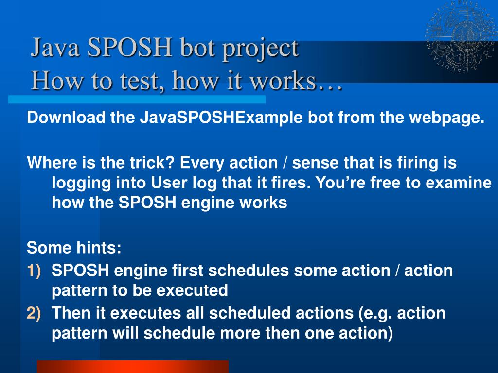 Java SPOSH bot project