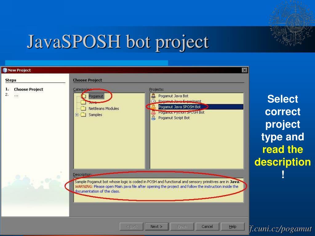 JavaSPOSH bot project