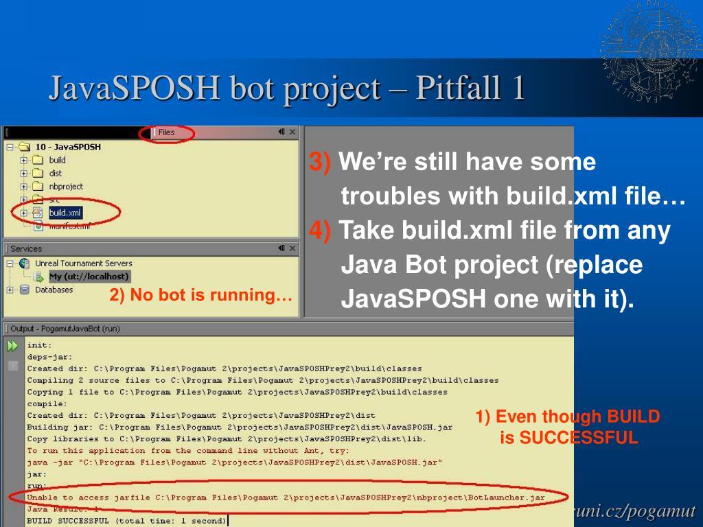 JavaSPOSH bot project – Pitfall 1