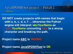 javasposh bot project pitfall 2 solution
