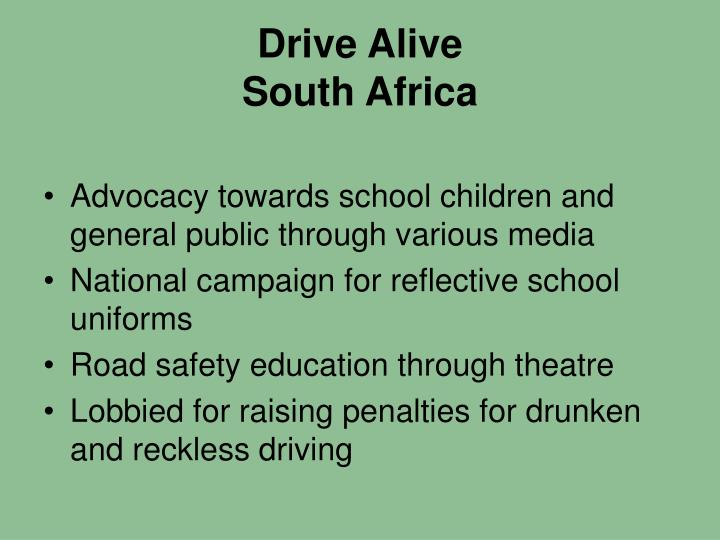 Drive alive south africa