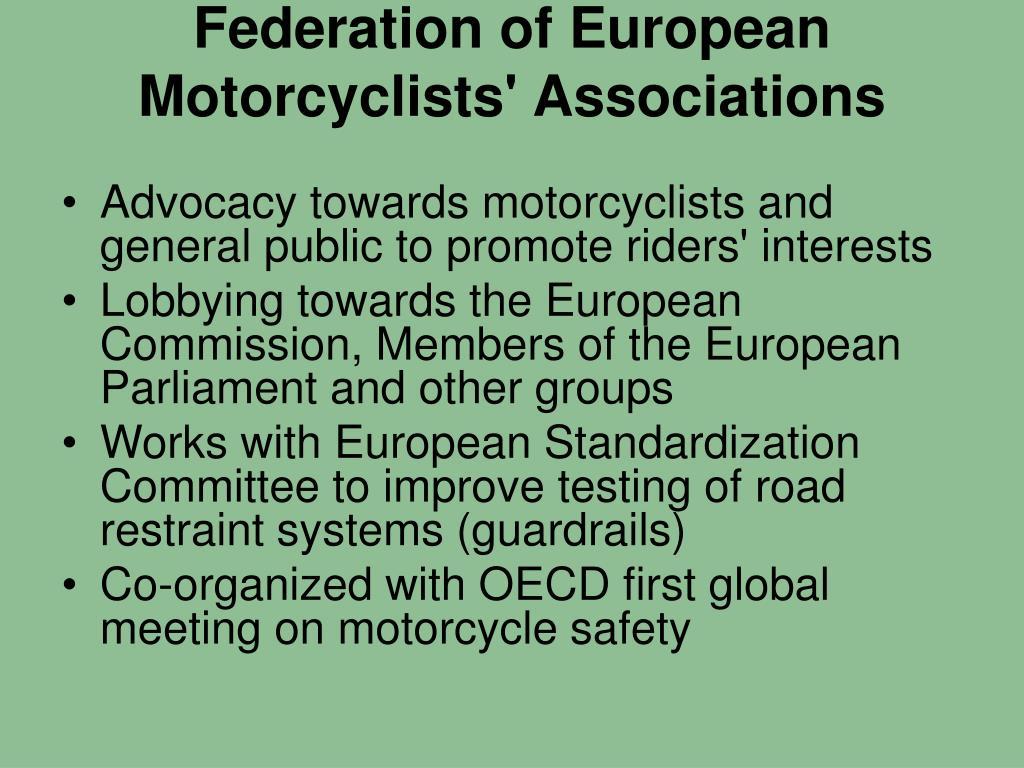 Federation of European Motorcyclists' Associations