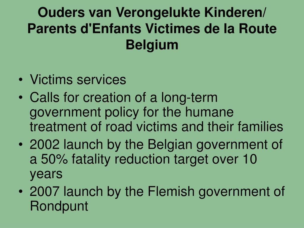 Ouders van Verongelukte Kinderen/