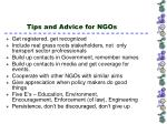 tips and advice for ngos