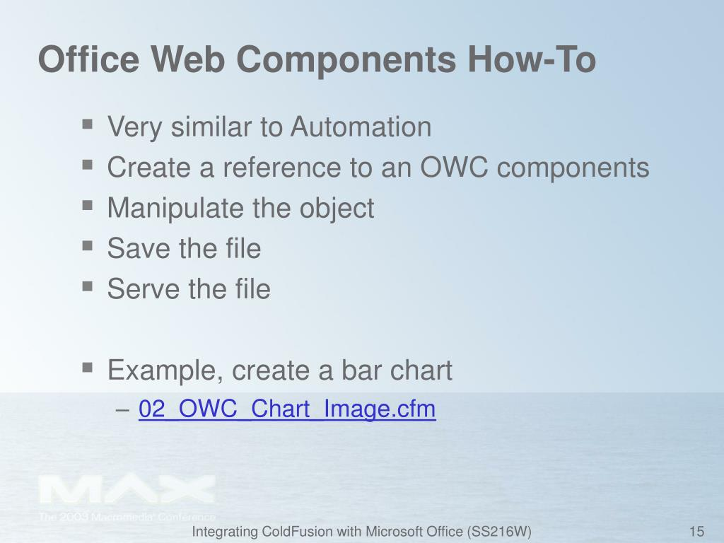 Office Web Components How-To