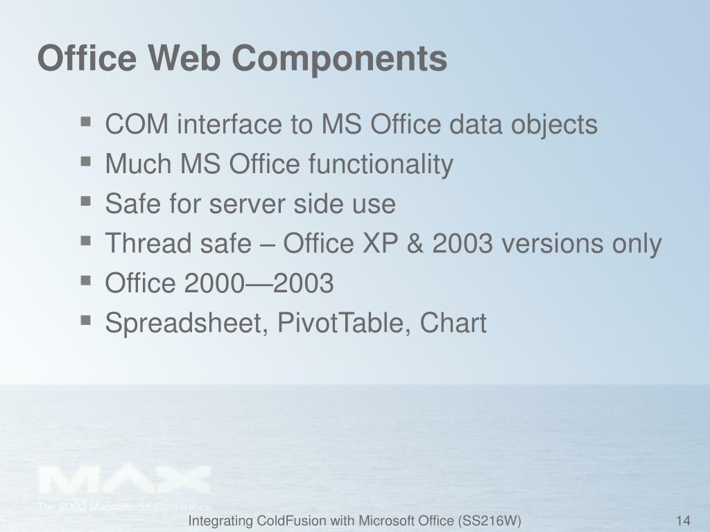 Office Web Components