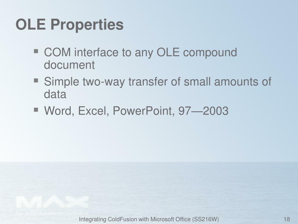 OLE Properties