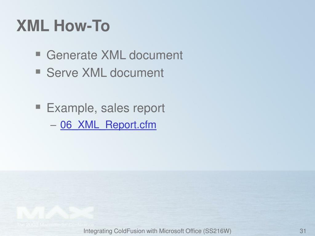 XML How-To