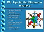 esl tips for the classroom teachers