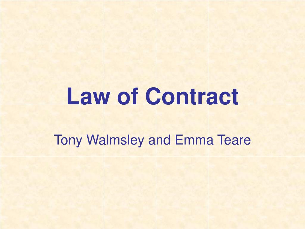 law of contract l.