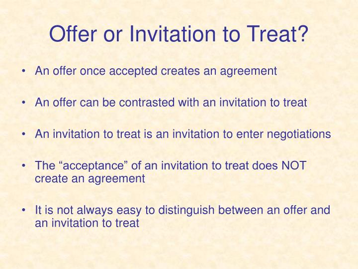 Ppt law of contract powerpoint presentation id169432 offer or invitation to treat stopboris Gallery